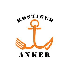 Der Rostige Anker liegt mitten im Basler Hafen, direkt am Wasser