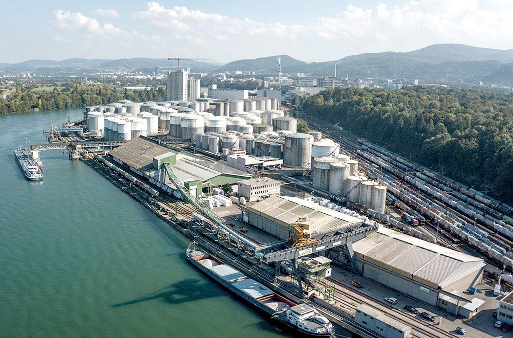 News-Inbetriebnahme Getreidesammelstelle im Auhafen - Schweizerische-Rheinhaefen-Port-of-Switzerland.ch